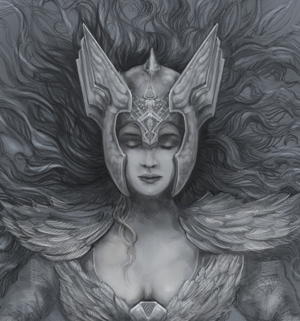 Brunhild was the fairest of the Valkyries, the warlike goddess-maiden, the inspiration for sleeping beauty. TEASER for a piece i'm currently working on. If you would like to see more progress on this and the series i'm creating on Norse mythology go to :