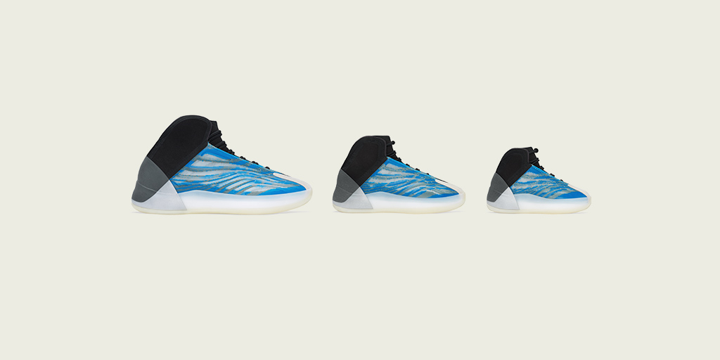 YZY QNTM FROZEN BLUE. AVAILABLE DECEMBER 23 AT , ON CONFIRMED IN THE UNITED STATES AND ON THE ADIDAS APP IN SELECT COUNTRIES.