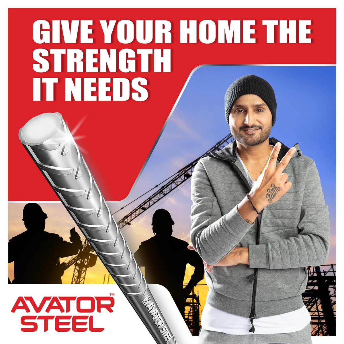 To give your home the required strength to last for many generations, place your faith in the best TMT bars in the market.   #AvatorSteel #harbhajansingh  @harbhajan_singh