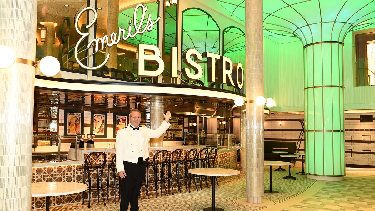 BAM! We're already at stop #2, @Emeril's Bistro 1396 and trust us… the cuisine is just as good as this space is looking! #CarnivalMardiGras