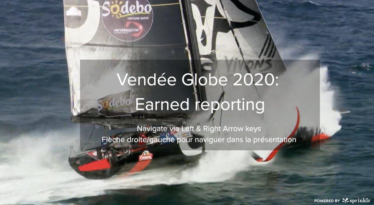 #VendeeGlobe2020 ⛵️ 41e jour et déjà plus de 215k mentions liées à la course. Avec 76% de la conversation, c'est sur Twitter que le classement, les skippers et les marques partenaires sont les plus discutés ! Evolution mesurée en temps réel via @Sprinklr