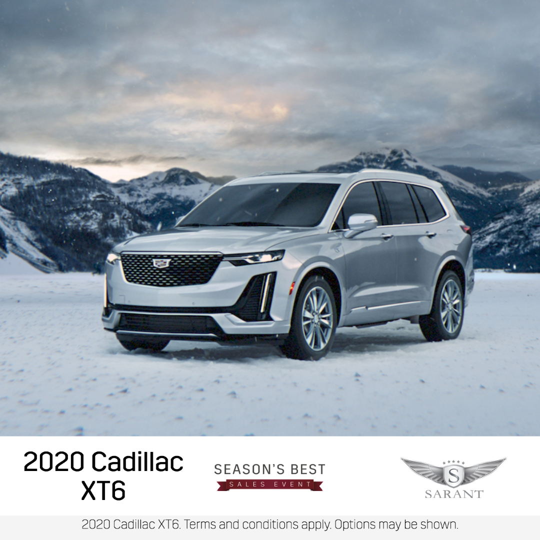 All new Cadillac. All new winter chills. Experience the brand-new 2020 Cadillac XT6 at Sarant Cadillac during our Seasons Best Sales Event and save today!  #Cadillac #carenthusiast #XT6 #CadillacXT6 #NewXT6 #CadillacLife #NewCadillac #NewSUV #NewRide #SarantCadillac #Cadillacs