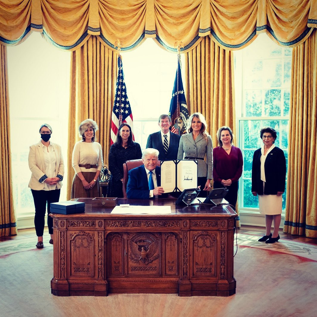 "Yesterday @POTUS signed a bill authorizing the ""Every Word We Utter"" Monument. This landmark will serve as a tribute to the brave women who devoted their life to the women's suffrage movement, the ratification of the 19th Amendment, & those who still fight for women's equality."