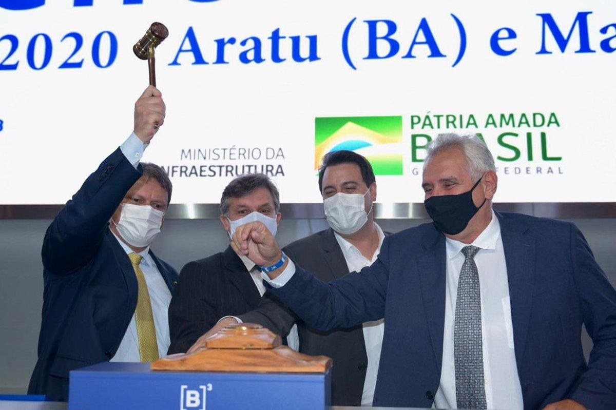 LEILÕES ENCERRADOS! Com os arrendamentos, mais de R$ 400 milhões serão investidos nas 4 áreas. R$ 87,5 milhões em outorgas foram ofertados. Confira os vencedores ⤵️ ➡ MAC10/AL: Timac Agro Indústria  ➡ ATU12/BA e ATU18/BA: CS Brasil ➡ PAR12/PR: Ascensus Gestão e Participações