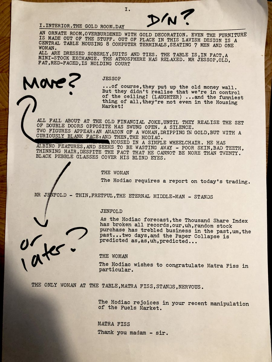 HERE IT IS. In preparation for today's tweetalong, I went through some old papers to find the script and found… the VERY FIRST DOCTOR WHO SCRIPT I ever wrote!! On a manual typewriter! In 1985! 1986? Sixth Doctor and Mel! #SantasARobot