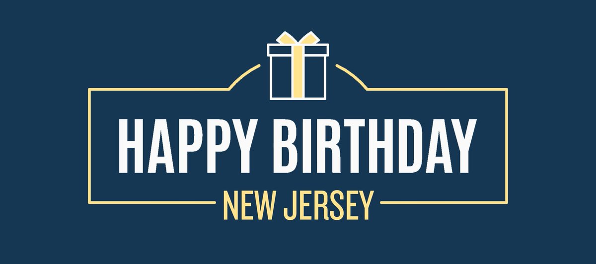 Happy Birthday, New Jersey! 233 years ago today – December 18, 1787 – New Jersey ratified the Constitution and became our nation's third state.