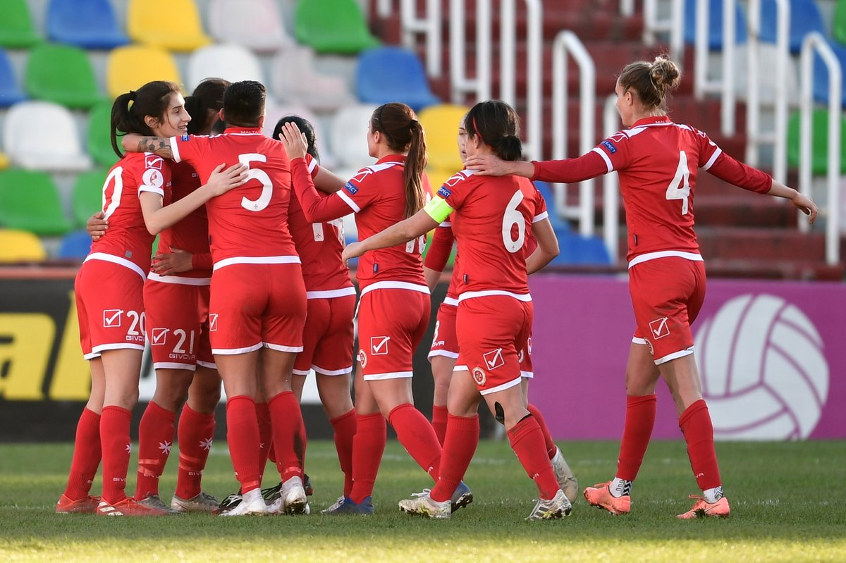 """Malta FA on Twitter: """"Onward ➡️ and upward ⬆️ Malta 🇲🇹 women's team make  great progress in FIFA World Ranking ✓ Biggest mover by points - ➕37 points  ✓ Biggest mover by"""