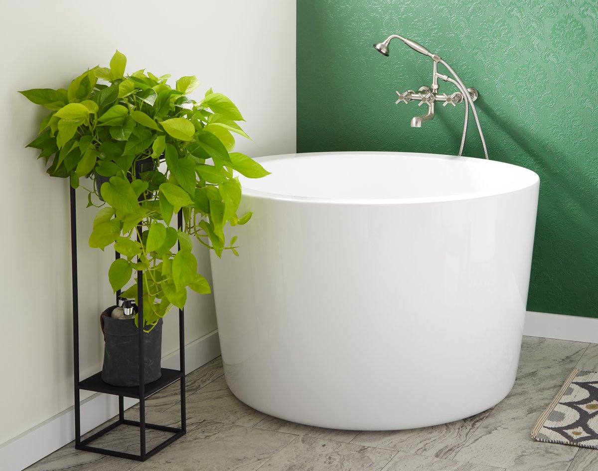 Get a satisfying bath in even compact spaces when you get a deep Japanese Soaking Tub. Find yours in a variety of materials and customize its look with your preferred faucet and bath steps. Learn more heres: https://t.co/GdRtx7exyU https://t.co/ZT0FzngTbE