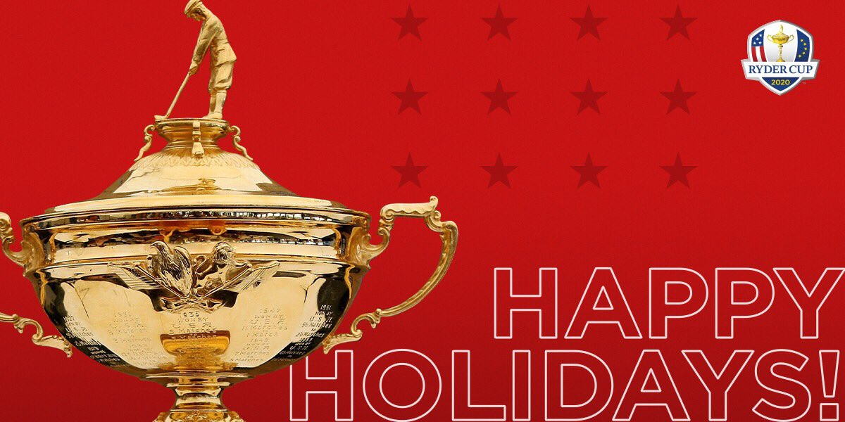 Replying to @RyderCupUSA: #HappyHolidays  #GoUSA | 🎄 🎁 ❄️