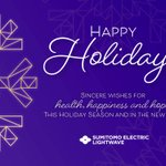 Image for the Tweet beginning: Happy Holidays from Sumitomo Electric