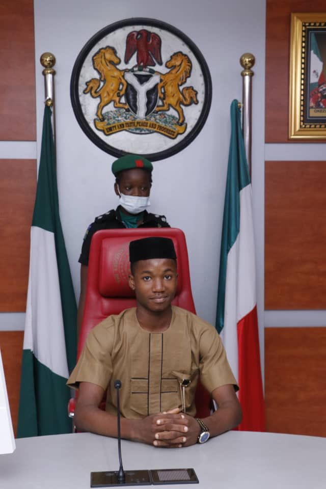 PHOTOS: Boy, 17, emerges Abia state's first male 'One-Day-Governor'