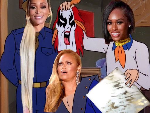 """And I would've gotten away with it if it wasn't for you meddling housewives"" Lmmfao Who's excited for #RHOP Sunday? Cuz baaaaby! @iammrssamuels @KARENHUGER"