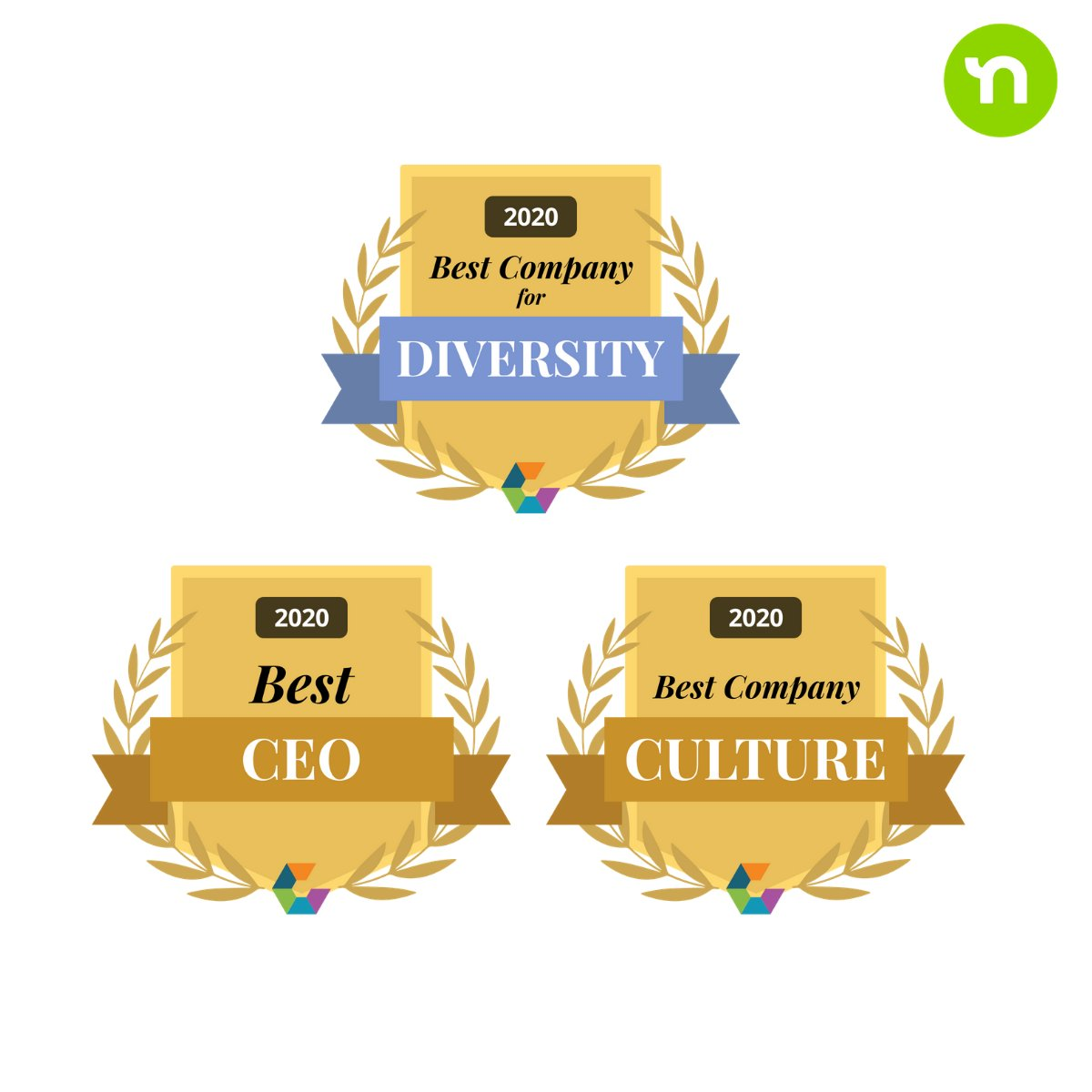 We are excited and proud to announce that #Nextdoor CEO @thefriley was named a winner of @Comparably's award for Best CEO this year. Also thrilled to be recognized for Best Company Culture and Best Company for Diversity.