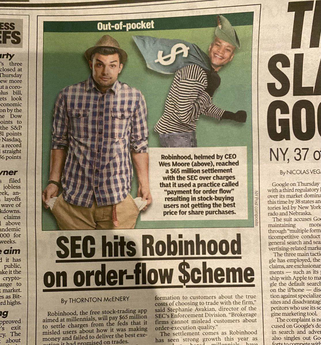 """Today @nypost photoshopped me to look like a """"criminal"""" in a story that had nothing to do with me. They confused @RobinhoodApp & @robinhoodnyc.  I'm sure retractions are forthcoming, but even if your basic facts had not been wrong, know that trafficking in cheap tropes is harmful"""