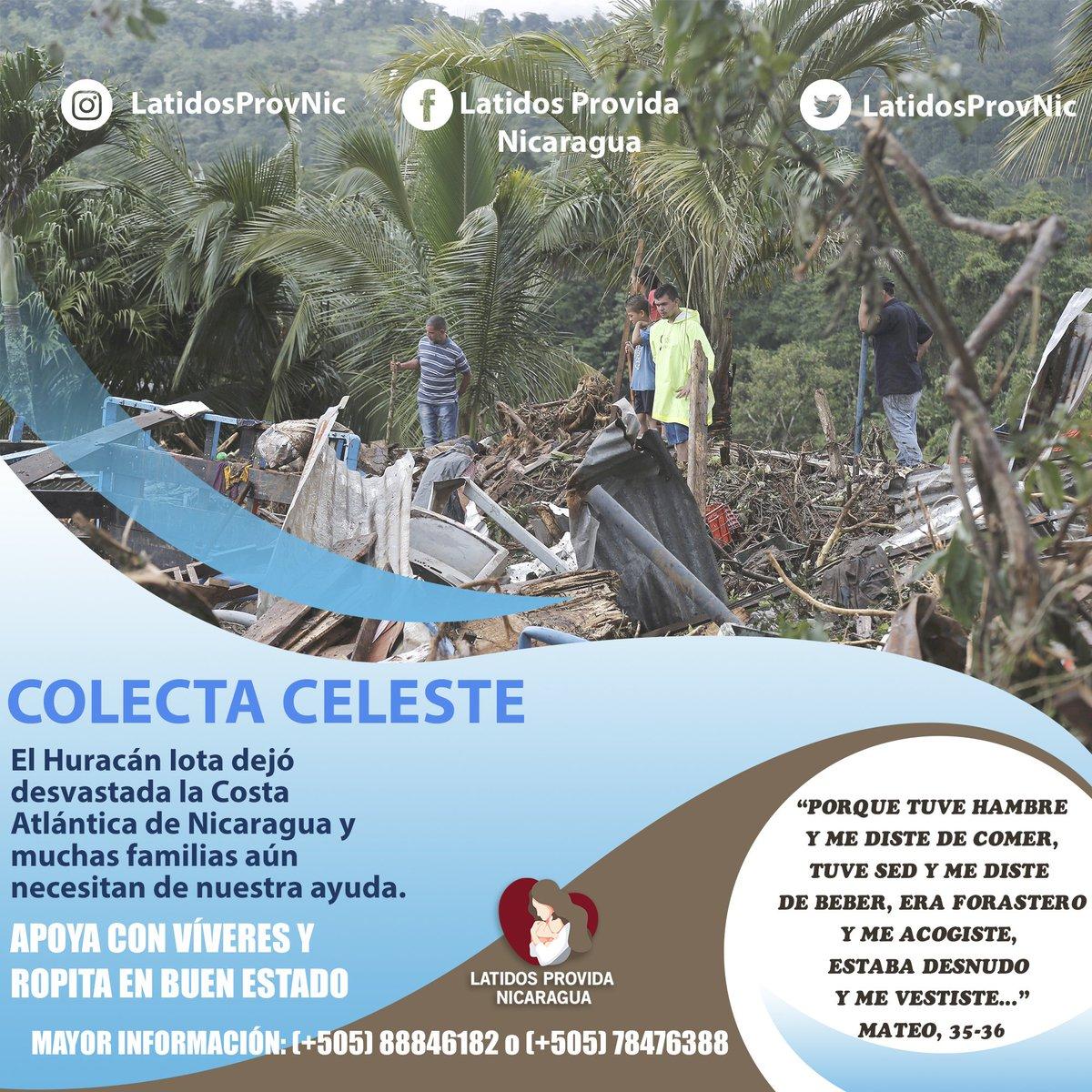 El #HuracanIota en Nicaragua hizo muchos estragos, es por eso que Latidos Provida Nicaragua apela a tu noble corazón para poder ayudar a las comunidades más afectadas. Ayudanos a difundir este mensaje. ¡Dios te bendiga!
