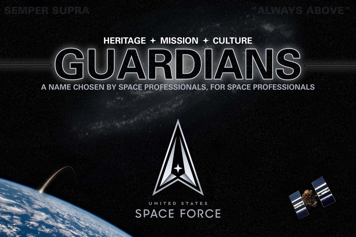 Today, after a yearlong process that produced hundreds of submissions and research involving space professionals and members of the general public, we can finally share with you the name by which we will be known: Guardians. https://t.co/Tmlff4LKW6