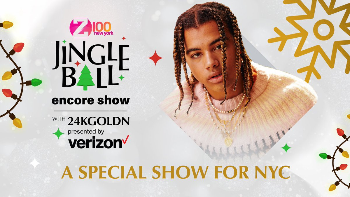 NYC! it ain't too late to watch my @iheartradio Jingle Ball Performance by @verizon watch it now at  #iheart24kgoldn #verizon