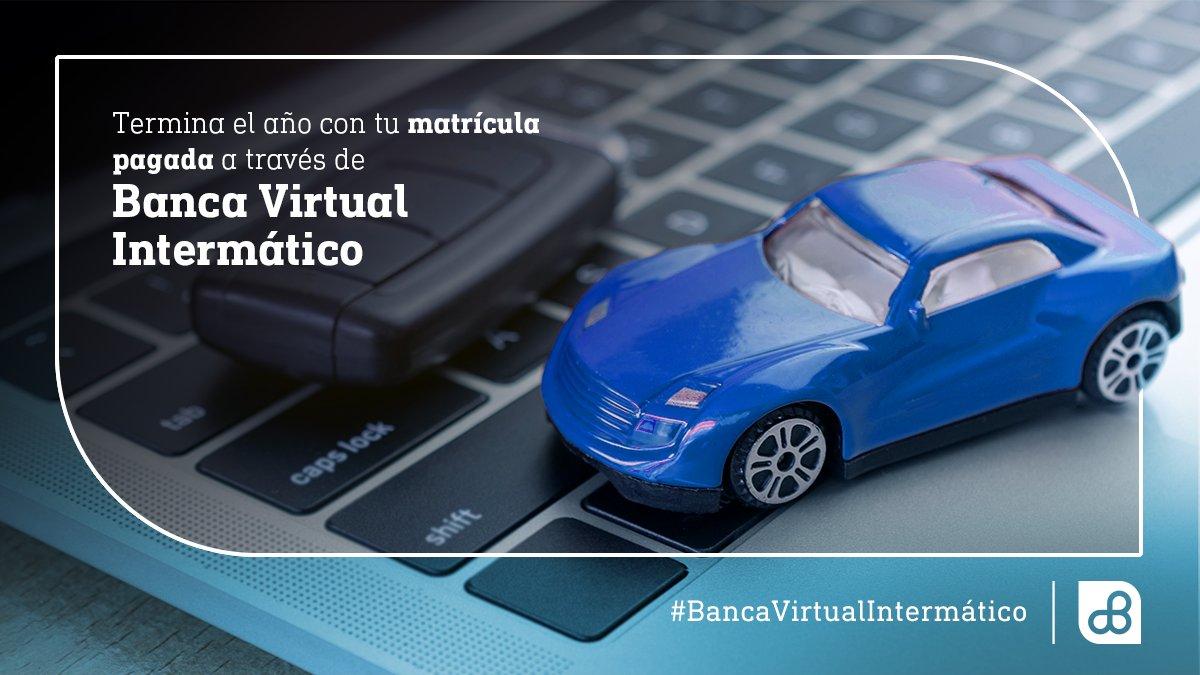 🚗✅ Este es el último mes de matriculación vehicular del 2020 y puedes hacer el pago de este rubro a través de #BancaVirtualIntermático 💻 de forma rápida y sencilla. https://t.co/t8Woeggtdx