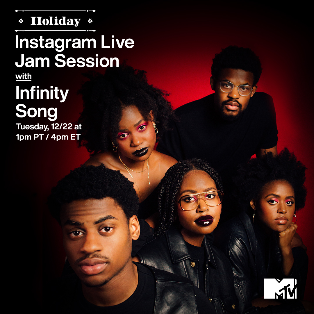 🗣 'TIS THE SEASON TO BE JOLLY because @Infinityssong is giving us a holiday #MTVJamSession at 1p PT / 4p ET on MTV's IG Live today! 🎁