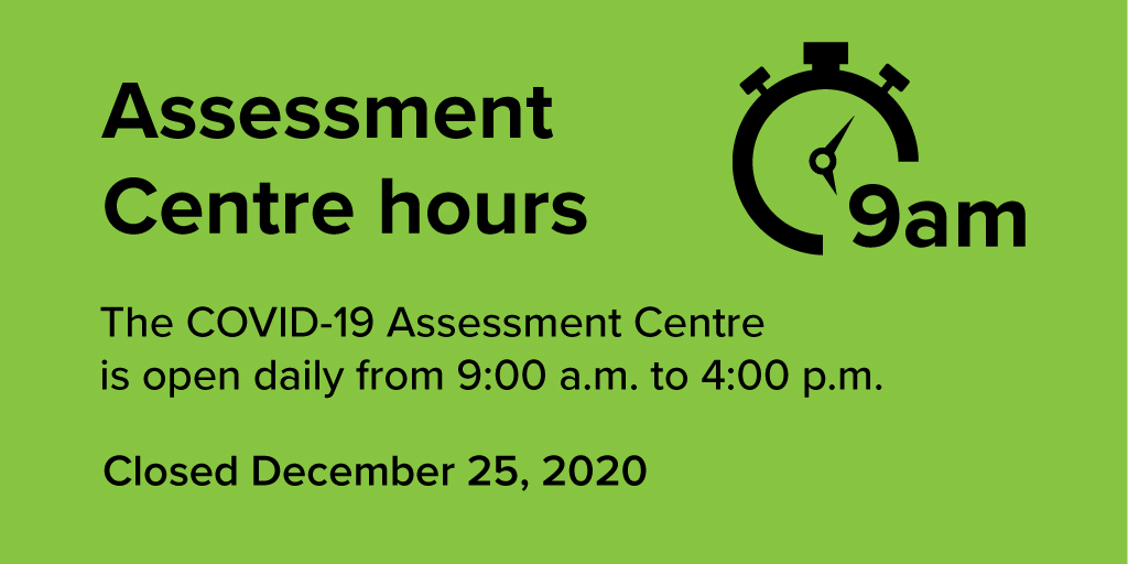 test Twitter Media - Please note: The COVID-19 Assessment Centre in #ygk will be closed on December 25th. Open all other days from 9am to 4pm and you must schedule an appointment for testing. Booking information at: https://t.co/8vGwCZp0IZ https://t.co/13qIX6tvAU