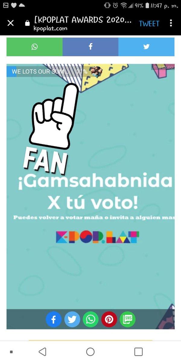 @Karlastar33 @TXT_members En #YourLight de vota 10 veces con la misma cuenta hasta que quede en 0...cumpli por hoy 😪