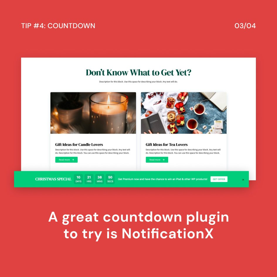 test Twitter Media - 10 Tips for a Successful Christmas Sale 🎄  TIP #4: Show a Sale Countdown @NotificationX_ @WPDevTeam   Check out the full article here: https://t.co/JuoGMLgqAS Join the Stackable Christmas Special to win gifts: https://t.co/Fzy08EH9WV https://t.co/C09XjArnB7