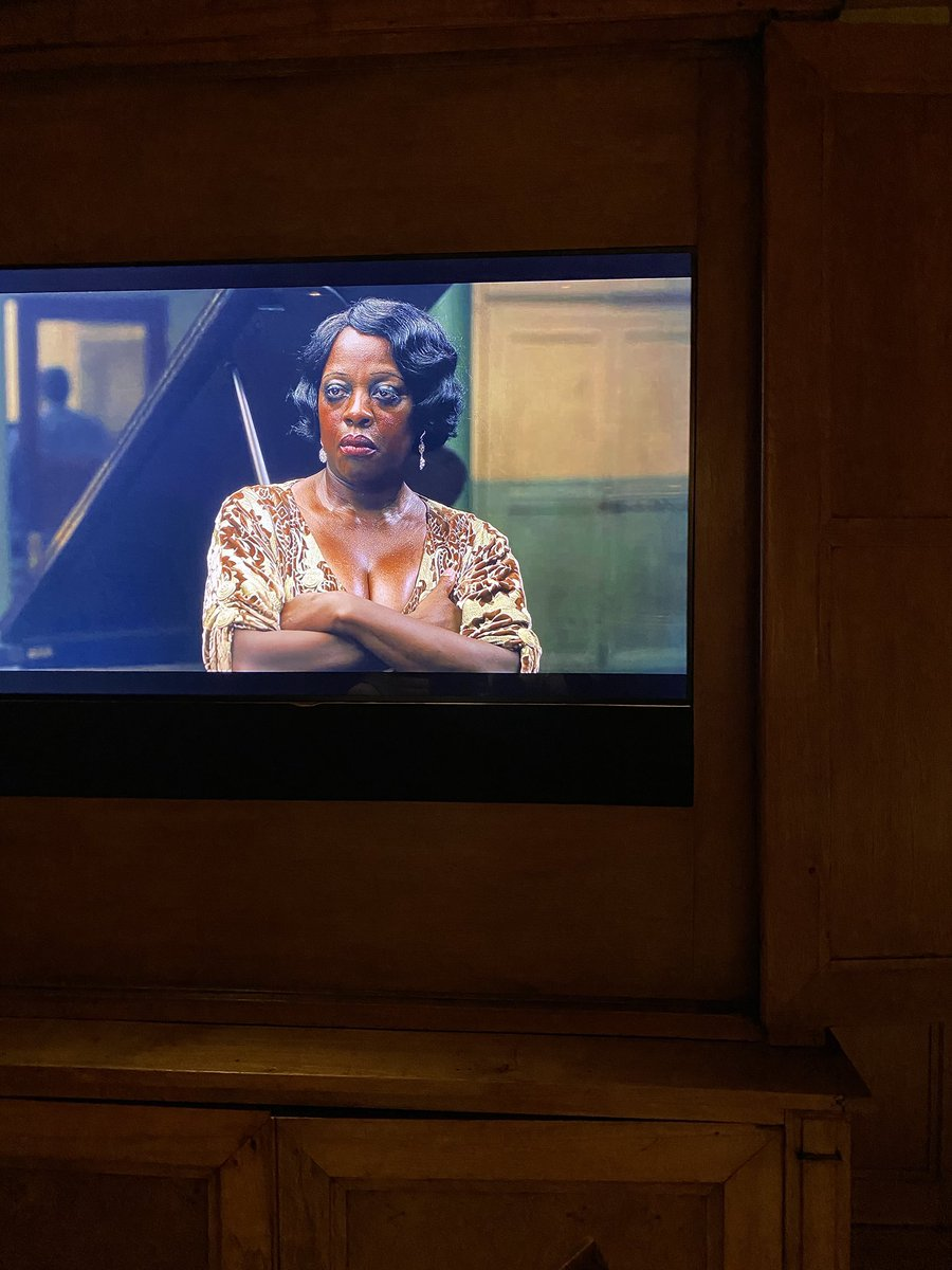 At our house tonight all eyes are on the astounding @violadavis in @MaRaineyFilm. Wow, what a bittersweet gift to see @chadwickboseman's final performance with this incredible ensemble. Standing O 👏🏽👏🏽👏🏽to the entire cast. #MaRaineyFilm @netflix