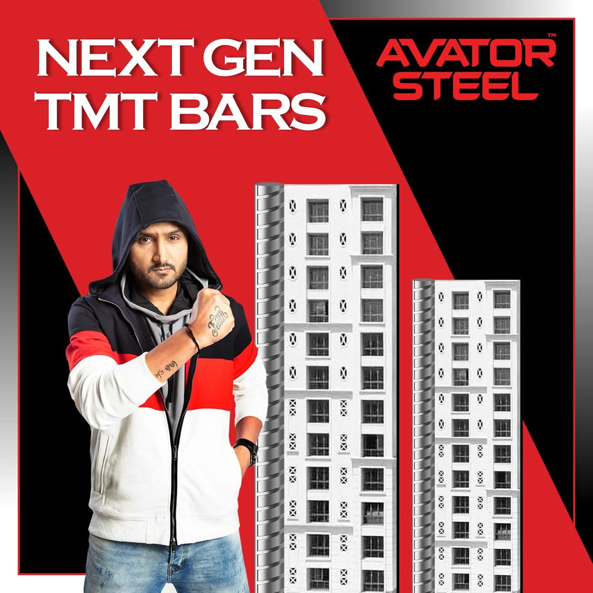 Earthquakes or corrosion doesn't stand a chance when you build your dream home with the next gen tmt bars, #AvatorSteel.   #HarbhajanSingh   @harbhajan_singh