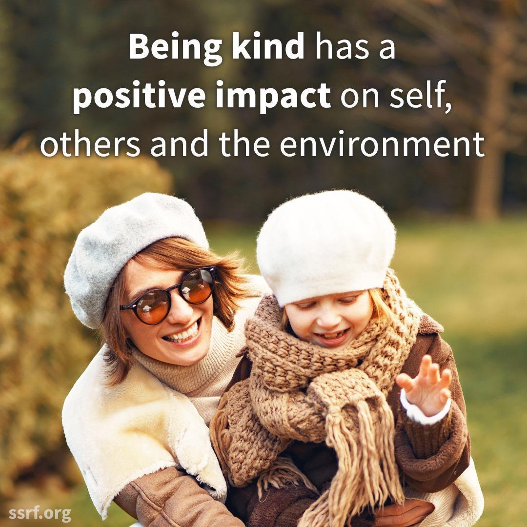 The mission of the #worldkindnessday is to create a kinder world. There are many ways to show acts of kindness. One simple way is to talk politely or softly with others. @SSRFINC  To learn more, please visit :