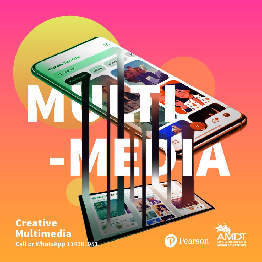 Get a Global Creative Career in Multimedia Design.  ⭐ Learn more - https://t.co/Q3RWP7vI8k  📞 Call or WhatsApp us at 114381981  #CreativityStartsHere #WeAreAMDT #Creativity #CreativeAdvertising #SriLanka #Maldives https://t.co/oxK6DlgvIO