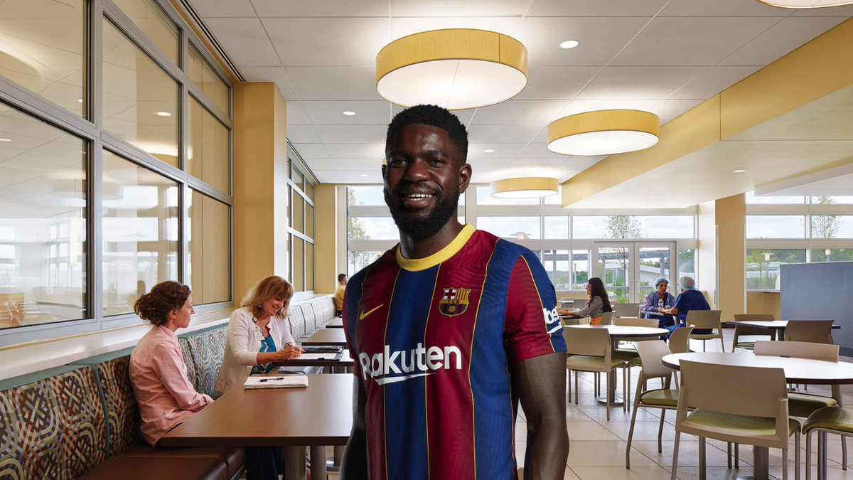 A rare picture of Umtiti, about to spend his €231K weekly wages at the hospital canteen. [📸 DiMarzio] https://t.co/PDXYfagiWG