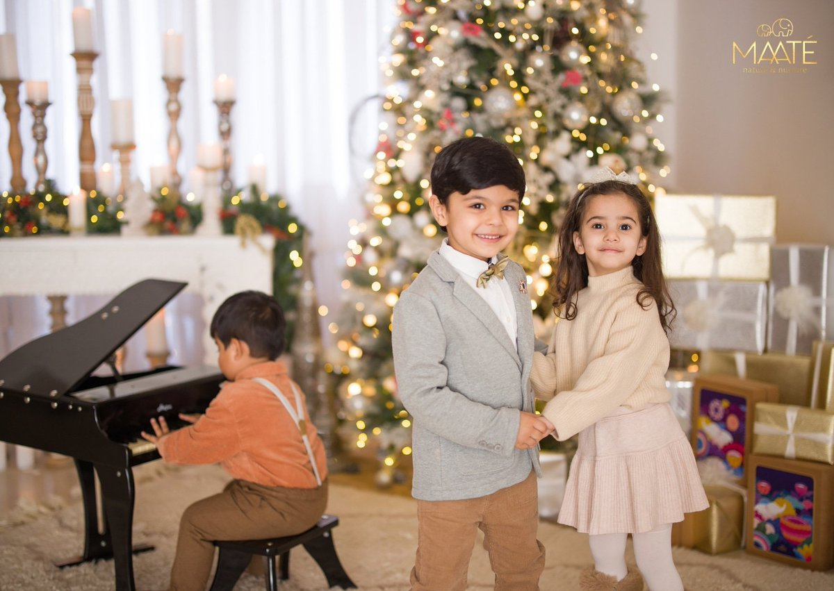 Let's show our little ones how warm memories must be cherished. Fall in love with the festive cheer and winter rituals. Let's celebrate the holiday season with gifts for our loved ones!  #Festiveseason #Christmas #MAATÉ #TruetoMotherhood