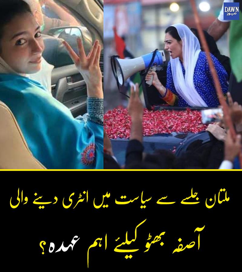 سابق صدر آصف زرداری کی چھوٹی بیٹی کو کس کا عہدہ ملے گا؟  #PPP #AsifaBhutto #dawnnews #pakistan