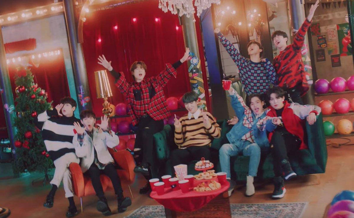 "allkpop on Twitter: ""AB6IX, BDC & Lee Eun Sang reveal holiday song  'Chandelier' MV teaser https://t.co/KQICmbbZda… """