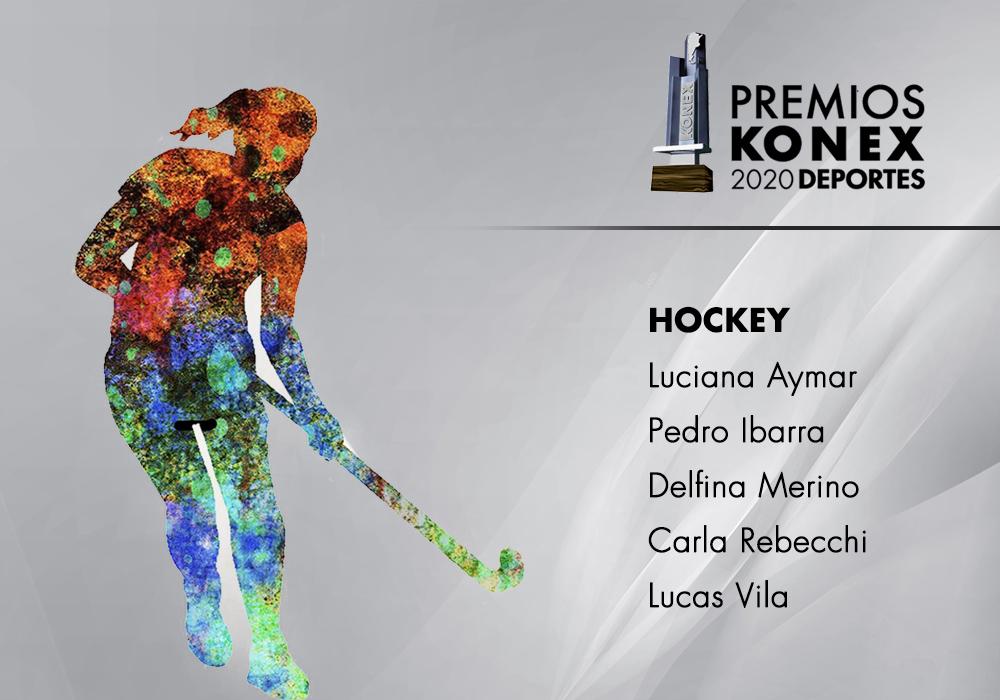 En la disciplina #Hockey, los ganadores del #PremioKonex a los mejores de la década son:  🔹@aymarlucha 🔹@pedroibarra99 🔹@delfinamerino 🔹@carlitarebecchi 🔹@colo12  Acá el listado completo de premiados👇