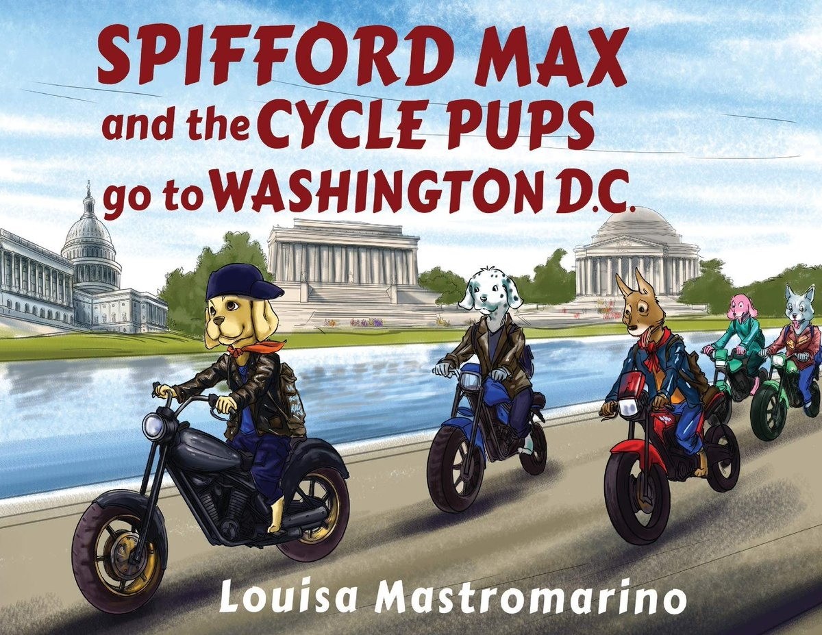 """@amazonbooks Best children's book for Christmas gift! 'Spifford Max and the Cycle Pups Go to Washington, D.C.' According to Amazon Reviews, """"It's a must-have for every school-age child."""" Remote learning ready! Available in Kindle & Paperback edition 📙📕"""