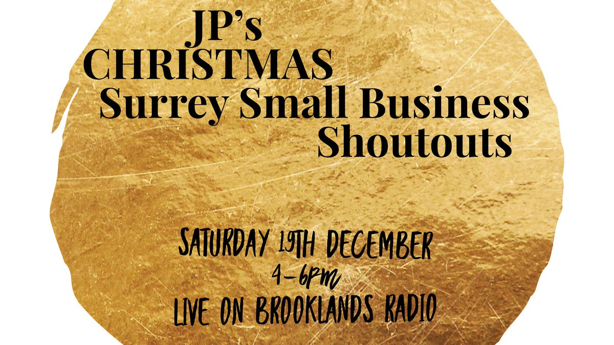 To help #SmallBusiness across #Surrey as areas go into Tier 3, I'd like to list as many as possible in my @brooklandsradio show today. Tweet me the business name, details and any #Christmas deals for a free on air mention today. Please tag them, listen in and RT! #LovingSurrey