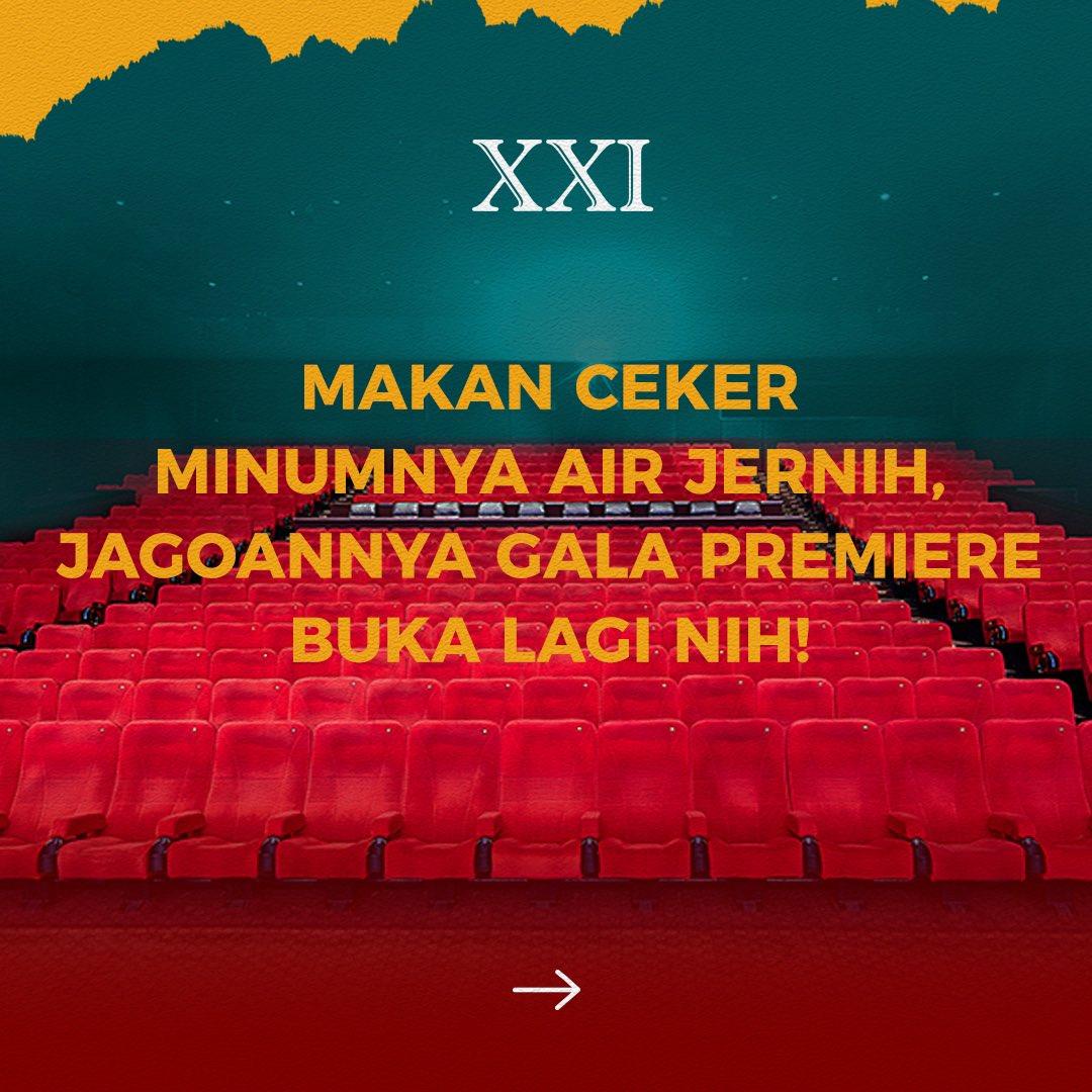 Top story: @cinema21: 'Widiwwwww jagoannya Gala Premiere? Dimana yaaaa?  Pokoknya jangan lupa ya kalau ke XXI, selalu terapkan XXI New Habits, biar #RinduNontondiXXI bisa dituntaskan dan #ASIKnyakeBioskop makin aman dan… , see more