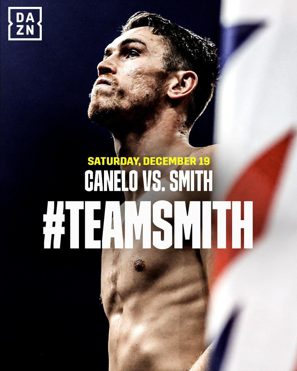 Fight day finally here 🔋  Who is #TeamSmith tonight? @DAZNBoxing   #CaneloSmith