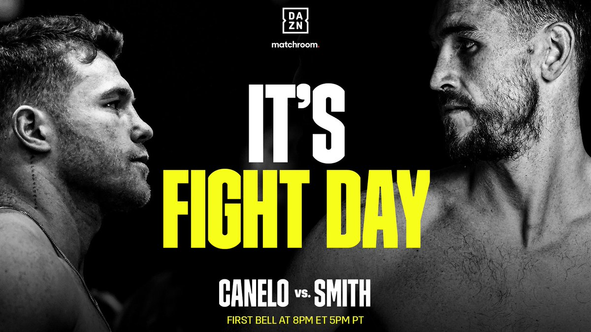 Replying to @DAZNBoxing: 🚨CANELO VS. SMITH IS TONIGHT🚨