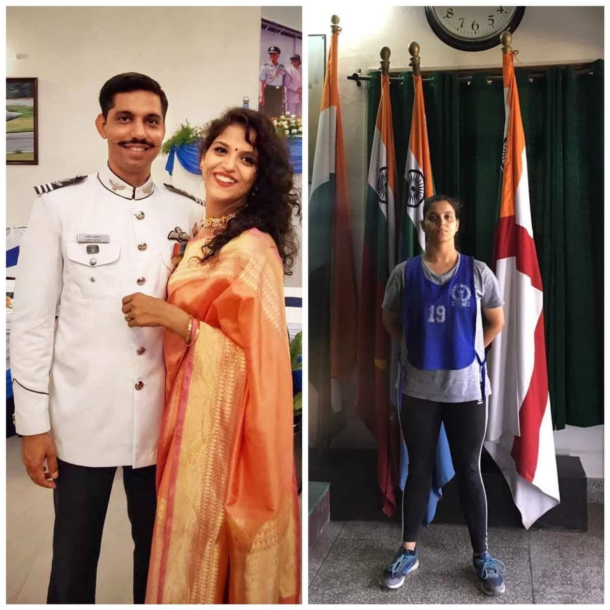 Proud Moment 🇮🇳❤️🇮🇳 Garima Abrol Wife Of Sqn Ldr Samir Abrol commissioned into the Indian Air Force Today. Sqn Ldr Samir Abrol lost his life after Mirage 2000 Crash on feb Last Year. . #IndianAirForce #IAF #AirWarrior #airforceacademy #women #Womenofficer #JaiHind