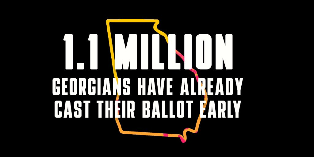 Historic turnout so far for the senate runoff elections in Georgia‼️#ItTakesAVillage