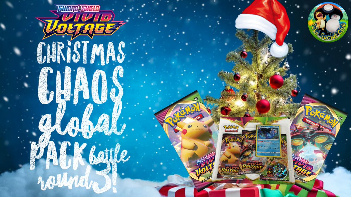 It's the final round of the Christmas Chaos global pack battle! Can we better 12pts from the last round? Check out the new video to find out!  #pokemon #PokemonTCG #christmas #PokemonSwordShield #PokemonGO #pikachu #vividvoltage #packbattle #christmaschaos