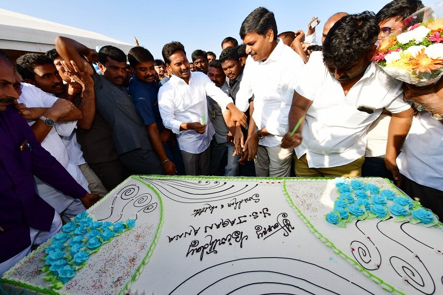 """""""The greatest leader is not necessarily the one who does the greatest things. He is the one that gets the people to do the greatest things."""" Happy Birthday, @ysjagan anna! Thank you for everything <❤️ #HBDYSJagan"""