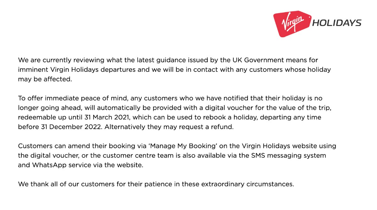 For further information on Virgin Holidays bookings please visit our Latest Travel News: