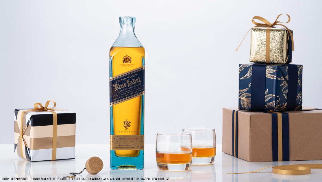 A whisky that needs no wrapping this year. #BlueLabel #KeepWalking. Shop Johnnie Walker Blue Label now at ReserveBar → .