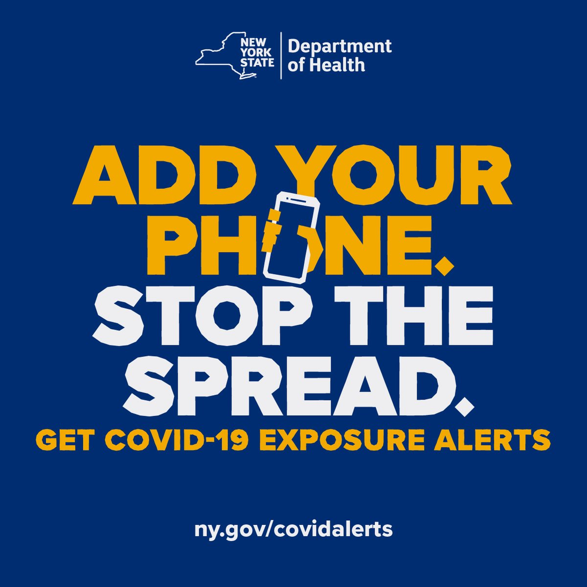 The holidays are here & we recommend downloading the COVID ALERT app which will tell you if you've been near someone who tests positive. Get alerts for your state here: . Help protect your community while maintaining your privacy. #addyourphone #IAVA