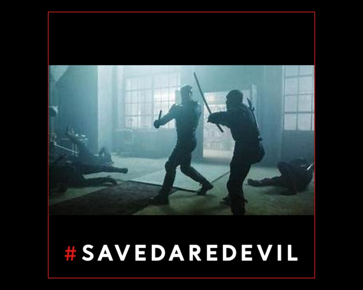 Replying to @Kristina4109: Because the @Daredevil stunt team is the best in the business.  #SaveDaredevil