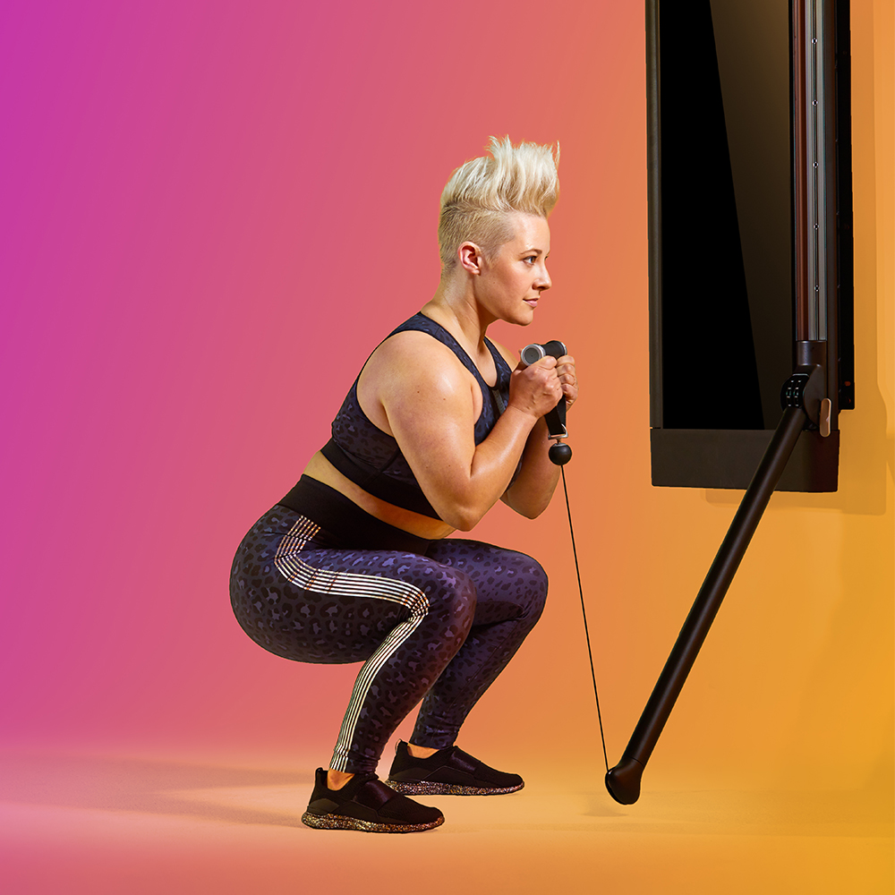"""Need a quick routine for your swamped Saturday? Start Coach Natalie's """"Fast Fitness."""" This five-day program features short, single-block workouts designed for full-body fitness. Ignite the added challenge of Tonal's Eccentric Mode as you get in, get out, and get fit."""