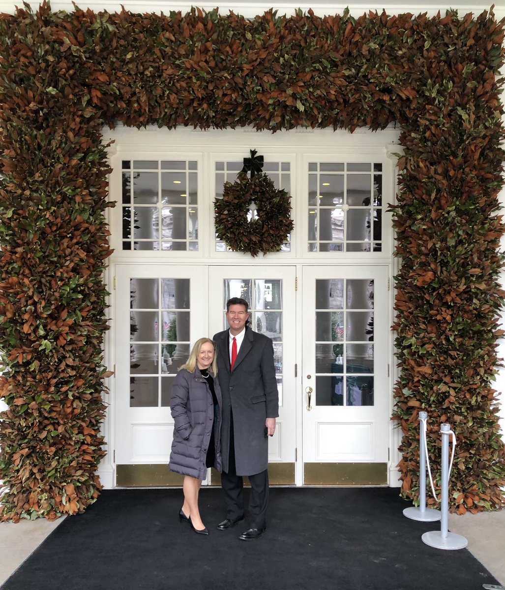 Yesterday, @CindyBMerrill and I had the unbelievable privilege to attend the last @WhiteHouse Christmas party of the 2020 season! We were honored to have been invited and to see our nation's executive mansion decorated to honor our Lord and Savior Jesus Christ! #WHChristmas